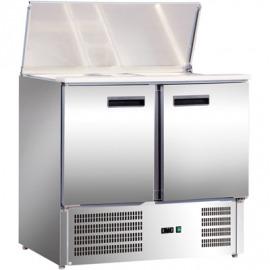 Chladiaci pult na šalát 3 dvere eco