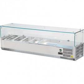 Chladená Výtrinanastaviteľná 7x1/4gn1600x335x435mm so sklom