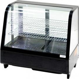 Výtrina expozičná 100 l čierna LED osvetlenie