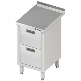 Stôl blok priečne s dvomi zásuvkami 455x600x850 mm
