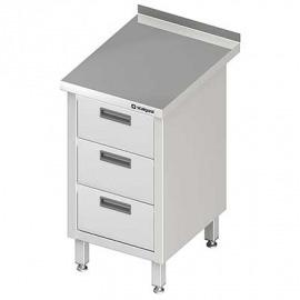 Stôl blok priečne s tromi zásuvkami 455x600x850 mm