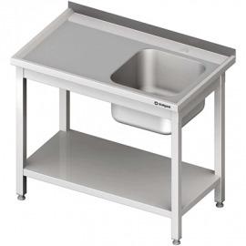 Stôl s umývadlom 1-kom (P), s policou 1200x600x850 mm skrutka