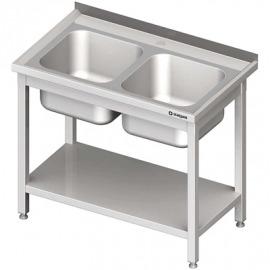 Stôl s umývadlom 2-com, s policou 1000x600x850 mm skrutka