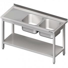 Stôl s umývadlom 2-com (P), s policou 1200x700x850 mm skrutka