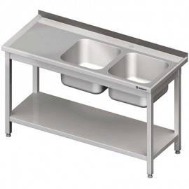 Stôl s umývadlom 2-com (P), s policou 1400x700x850 mm skrutka