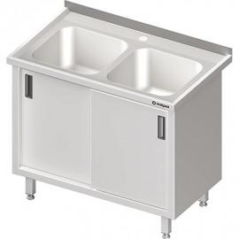Stôl s umývadlom 2-COM, Posuvné dvere 1000x700x850 mm